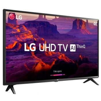 Smart TV 43 4K LG LED 43UK6310PSE com IPS, Inteligência Artificial ThinQ AI, WI-FI, Processador Quad Core, HDR 10 Pro