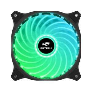 Cooler Fan F9-L150RGB Storm 12cm 18Led C3Tech