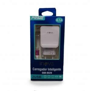 Carregador Prime 4.1a USB Iphone CAR-8529 - Inova
