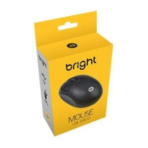 Mouse USB preto - Bright