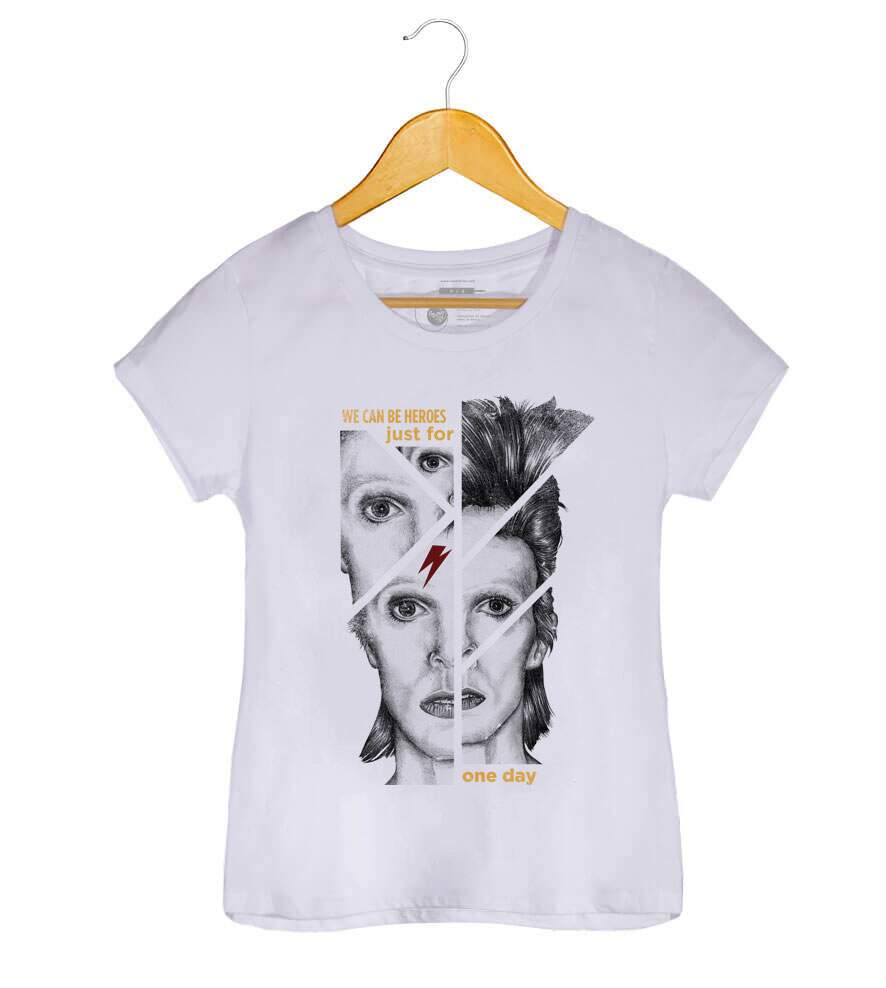Camiseta David Bowie - We Can Be Heroes - Feminino
