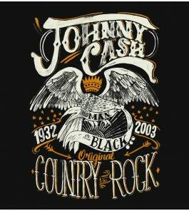 Camiseta Johnny Cash - Country Rock - Feminino
