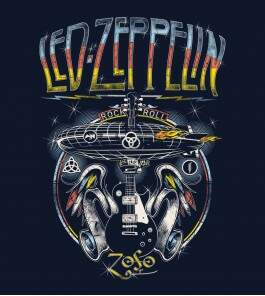 Camiseta Led Zeppelin Rock and Roll - Masculino