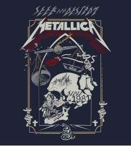 Camiseta Metallica - Seek and Destroy - Masculino