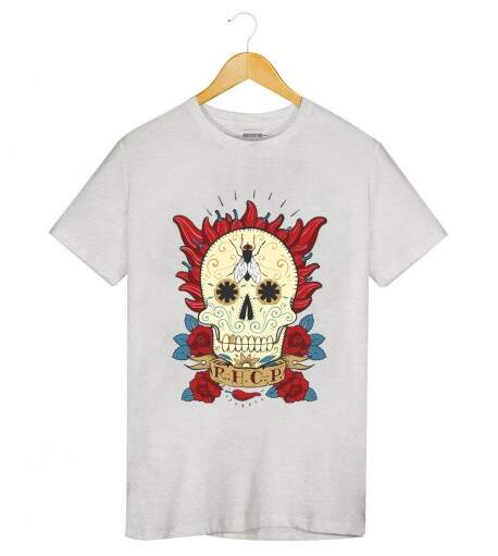 Camiseta Red Hot Chili Peppers - Caveira Mexicana - Masculino