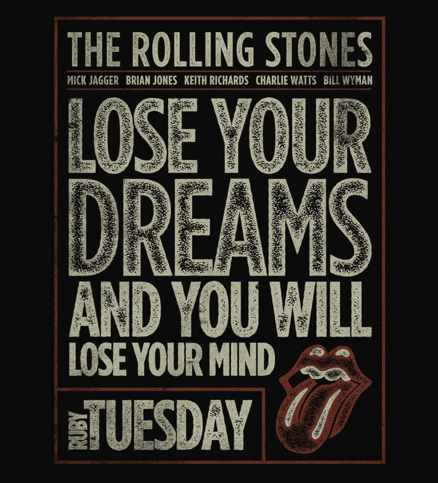 Camiseta The Rolling Stones - Ruby Tuesday - Masculino