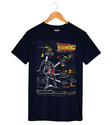 Camiseta Back To Future - Masculino
