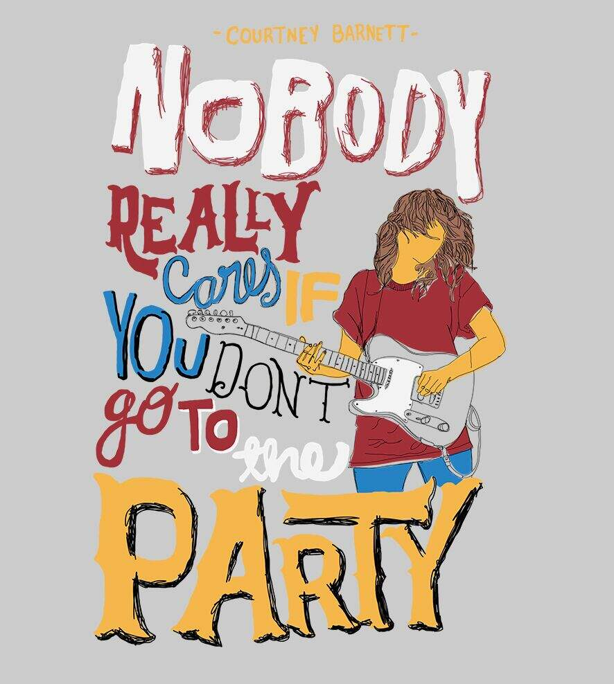 Camiseta Courtney Barnett - Nobody Party - Feminino