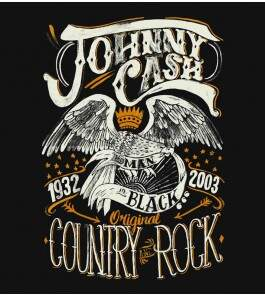 Camiseta Johnny Cash - Country Rock -  Masculino