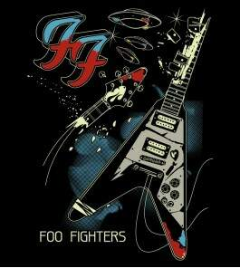 Camiseta Foo Fighters Um - Feminino