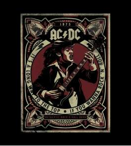 Camiseta ACDC - Its A Long Way To The Top - Feminino