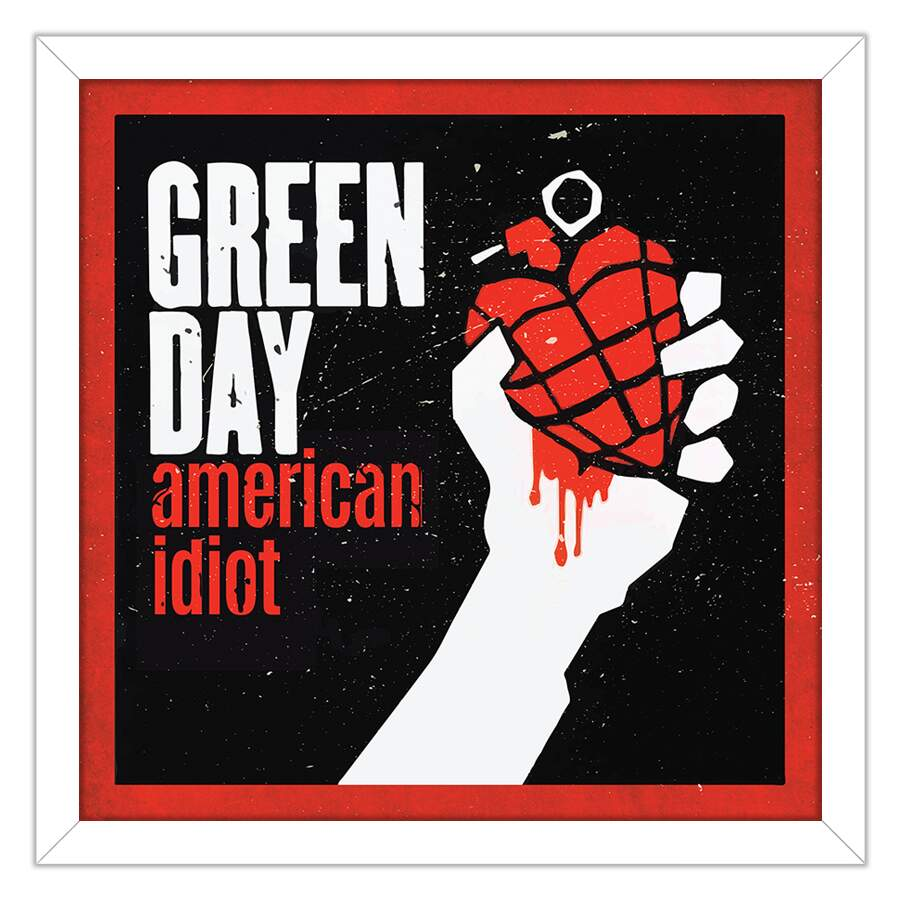 Quadro Decorativo Musicas Green Day