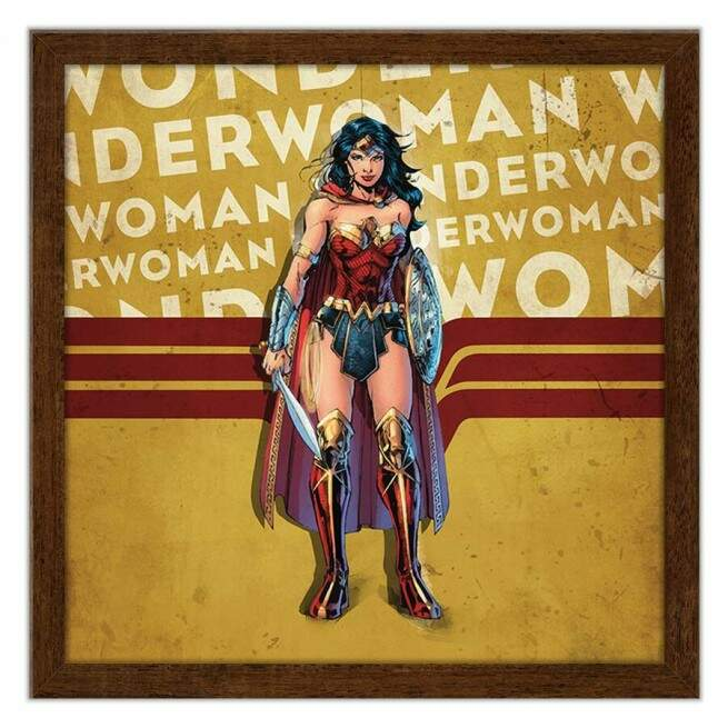 Quadro Decorativo Geeks Wonder Woman Quadrinhos