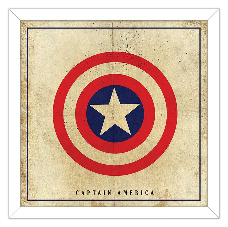 Quadro Decorativo Geeks Captain America