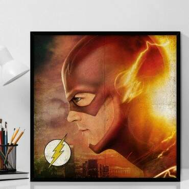 Quadro Decorativo Com Moldura Geeks Seriado DC - The Flash