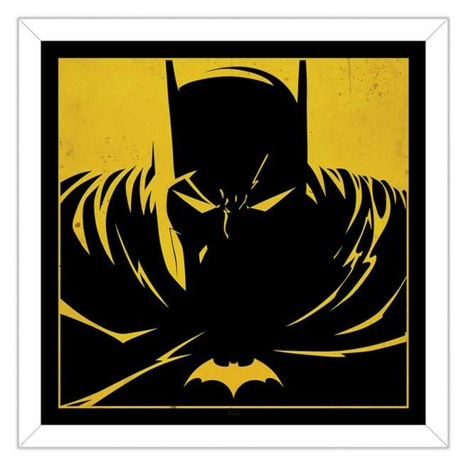 Quadro Decorativo Com Moldura Geeks Batman In The Shadows