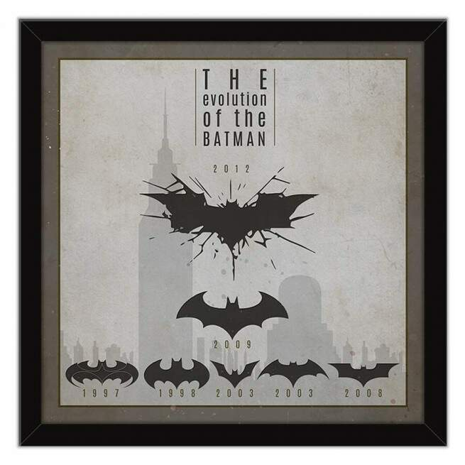 Quadro Decorativo Com Moldura Geeks Evolution Of The Batman