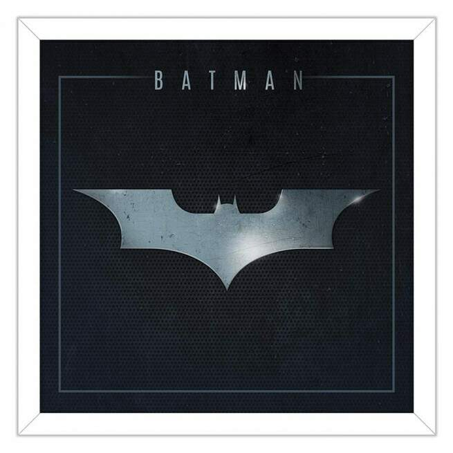 Quadro Decorativo Com Moldura Geeks The Batman Símbolo