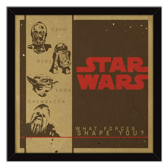Quadro Decorativo Geeks Star Wars Personagens