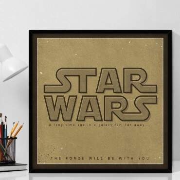 Quadro Decorativo Com Moldura Geeks The Force Be With You