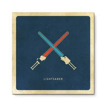 Quadro Decorativo Geeks Lightsaber
