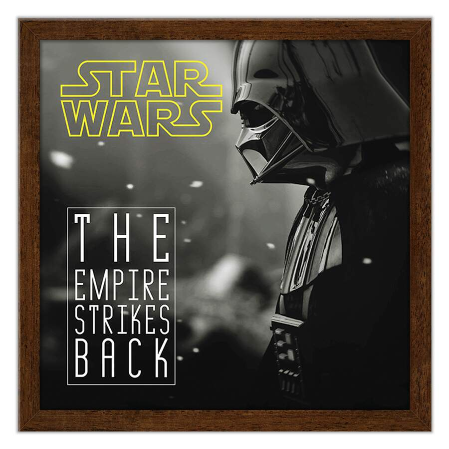 Quadro Decorativo Com Moldura Geeks The Empire Strikes Back