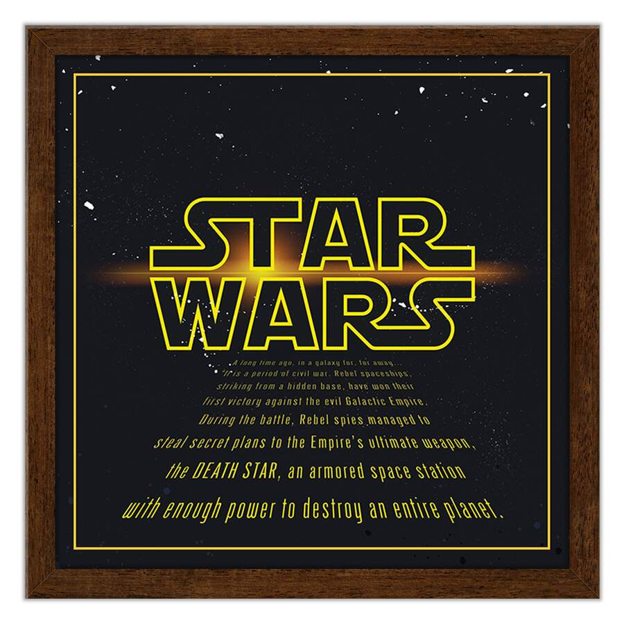 Quadro Decorativo Geeks Star Wars Intro