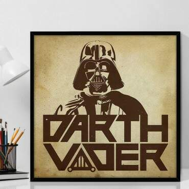 Quadro Decorativo Com Moldura Geeks Star Wars Darth Vader