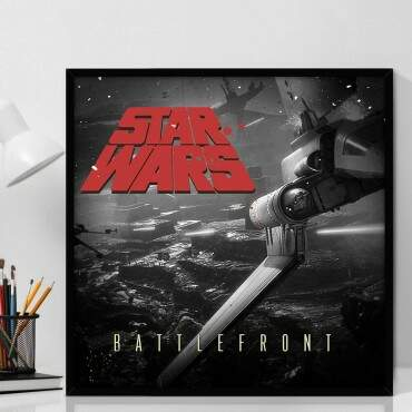 Quadro Decorativo Com Moldura Geeks Star Wars Battlefront