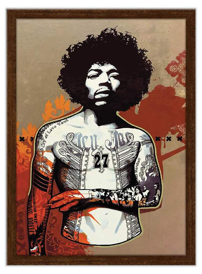 Quadro Decorativo Jimmy Hendrix