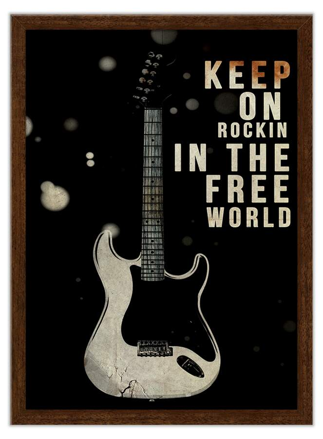 Quadro Decorativo Keep On Rockin