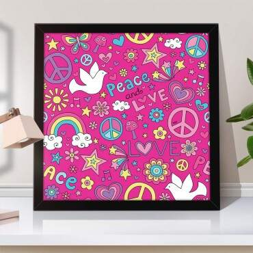 Quadro Decorativo Peace and Love