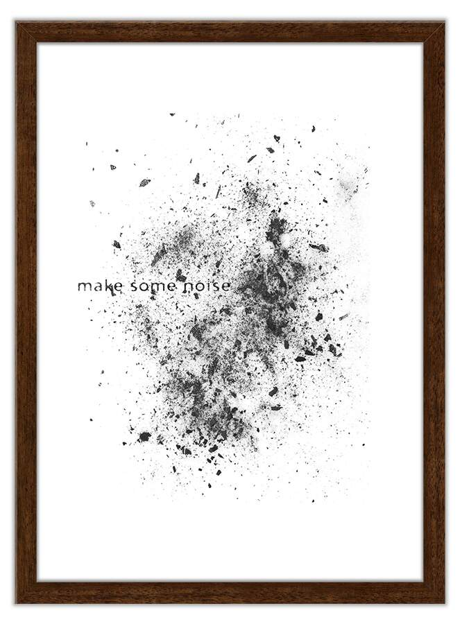 Quadro Decorativo Com Moldura Arte Pop Make Some Noise Claro