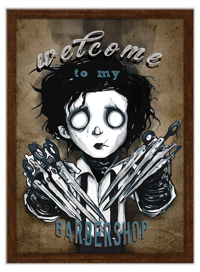 Quadro Decorativo Welcome To My Barbershop