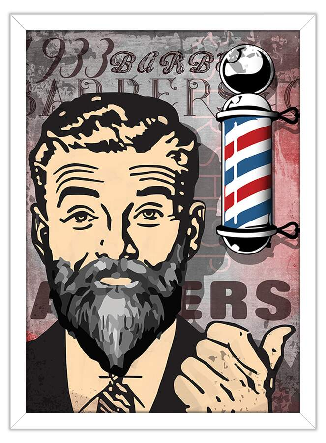 Quadro Decorativo Barbershop Pole
