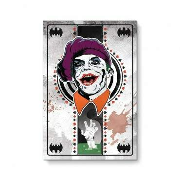 Quadro Decorativo Com Moldura Cinema Joker Card