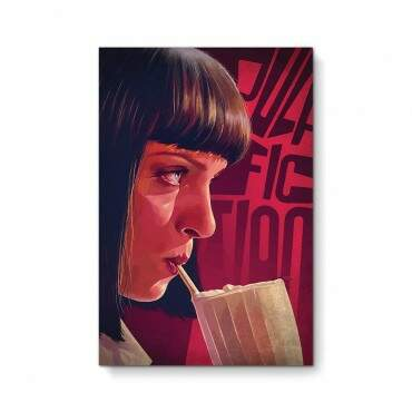 Quadro Decorativo Com Moldura Cinema Pulp Fiction