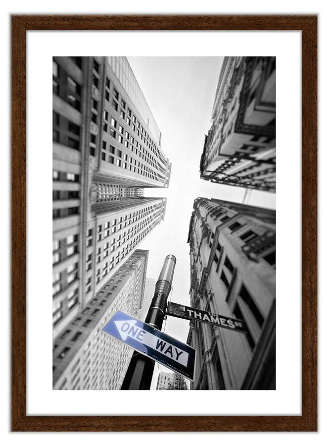 Quadro Decorativo Fotografias Prédios One Way