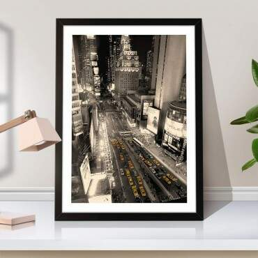 Quadro Decorativo Time Square Night