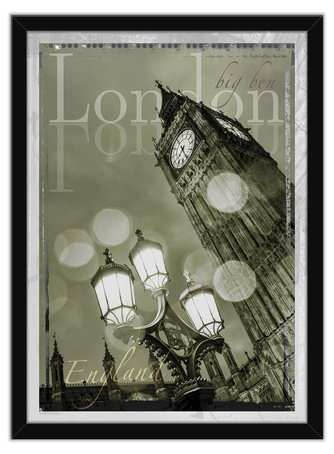 Quadro Decorativo Fotogtafia London Big Ben