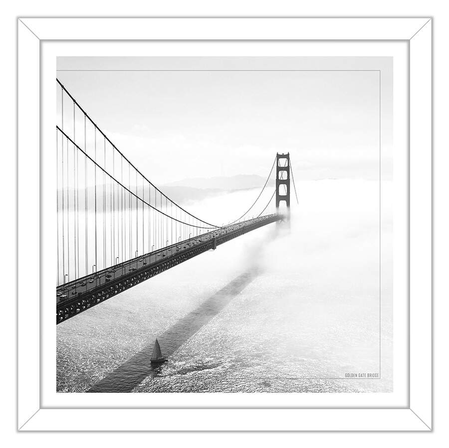Quadro Decorativo Com Moldura Fotografia Ponte Golden Gate