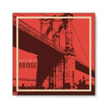 Quadro Decorativo Fotografia Brooklyn Bridge Vintage