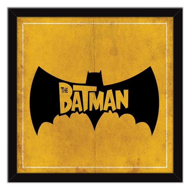 Quadro Decorativo Com Moldura Geeks Morcego The Batman