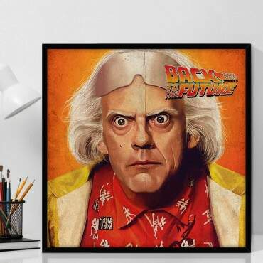 Quadro Decorativo Com Moldura Geeks Back to the Future