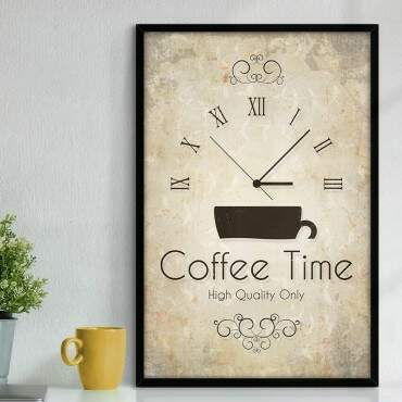 Quadro Decorativo Com Moldura Gourmet Coffee Time Quality
