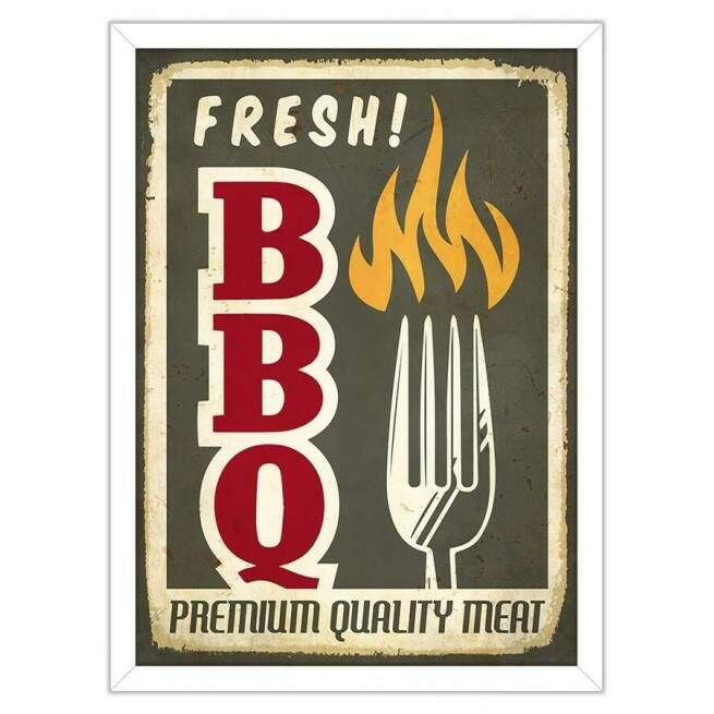 Quadro Decorativo Gourmet Fresh Barbecue
