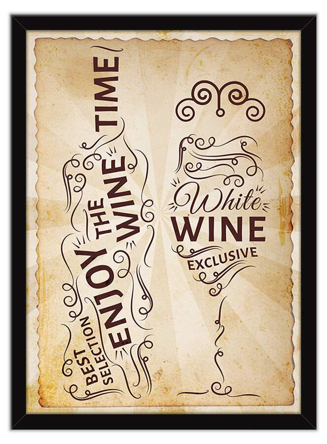 Quadro Decorativo Gourmet Wine Vintage