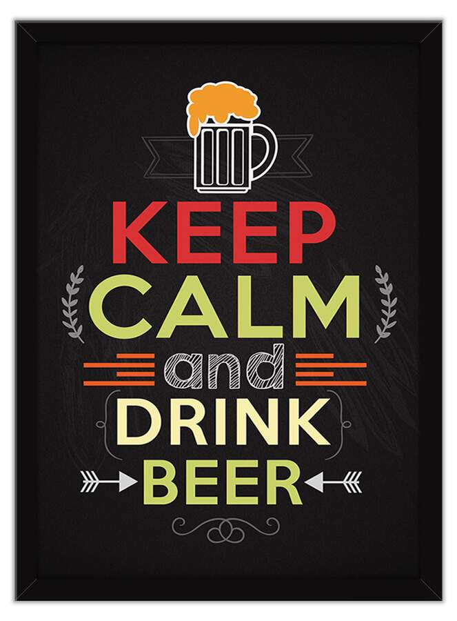 Quadro Decorativo Gourmet Keep Calm And Drink Beer