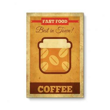 Quadro Decorativo Gourmet Fast Food Coffee Minimalista