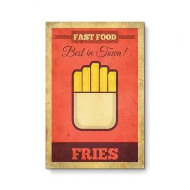 Quadro Decorativo Gourmet Fast Food Fries Minimalista
